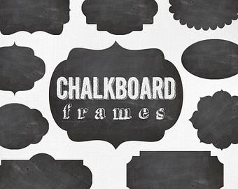 Free chalkboard clip art image transparent library Free chalkboard clipart frames - ClipartFox image transparent library