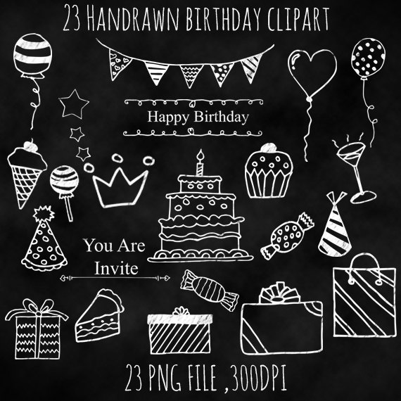 Free chalkboard clipart birthday clip transparent download This listing is for a set of BIRTHDAY CHALKBOARD CLIP ART FILE ... clip transparent download