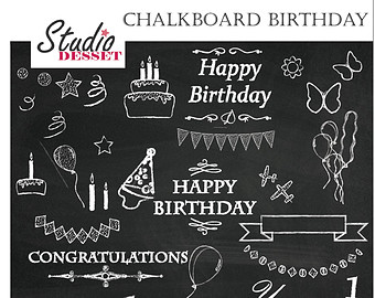 Free chalkboard clipart birthday vector black and white stock Free chalkboard clipart birthday - ClipartFest vector black and white stock