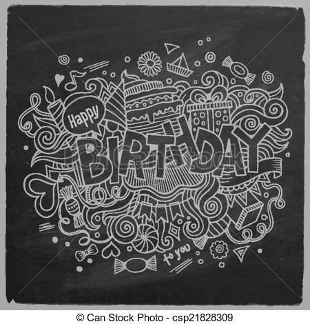 Free chalkboard clipart birthday clip stock Vector Clipart of Birthday chalkboard background - Birthday hand ... clip stock