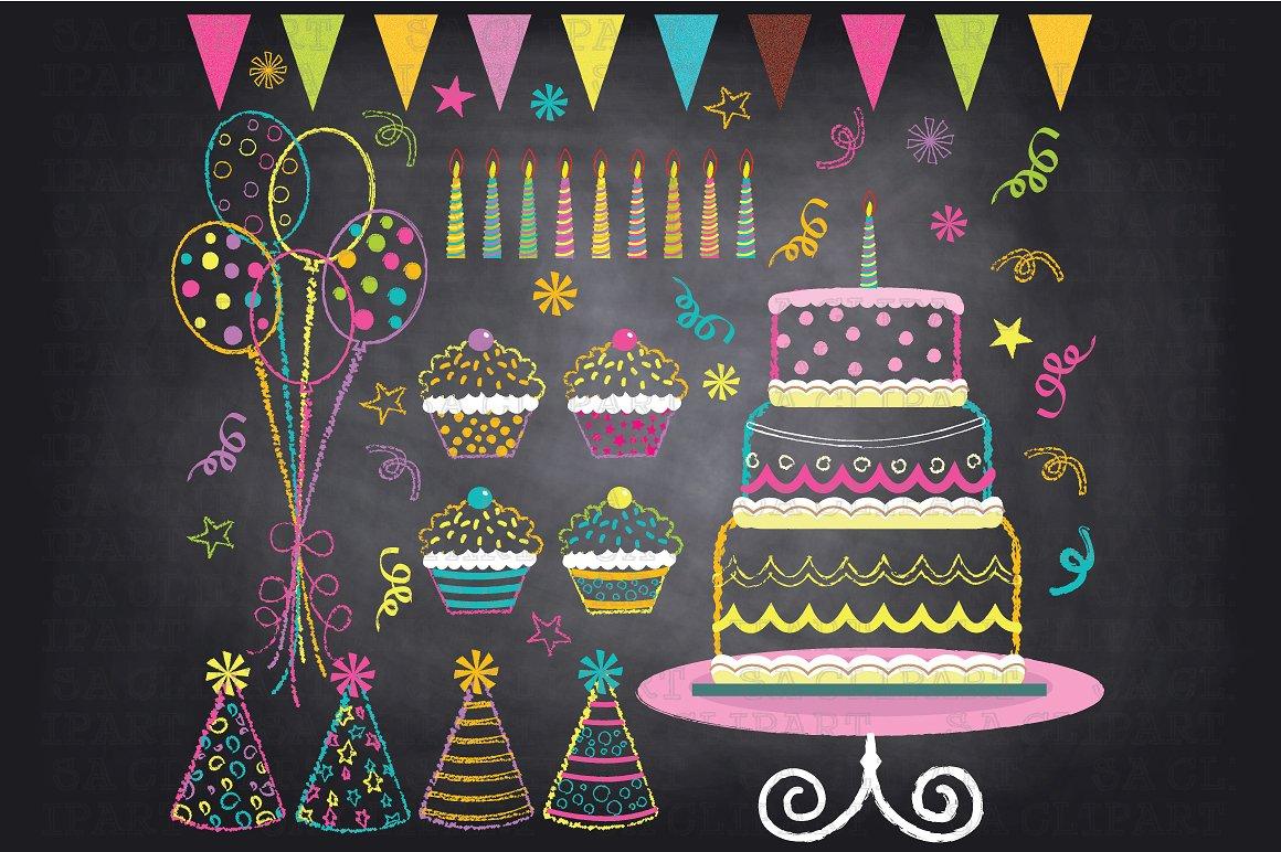 Free chalkboard clipart birthday svg Chalkboard birthday clip art Photos, Graphics, Fonts, Themes ... svg