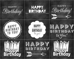 Free chalkboard clipart birthday clipart transparent download Chalkboard Labels | Survival kits, Teaching and The teacher clipart transparent download
