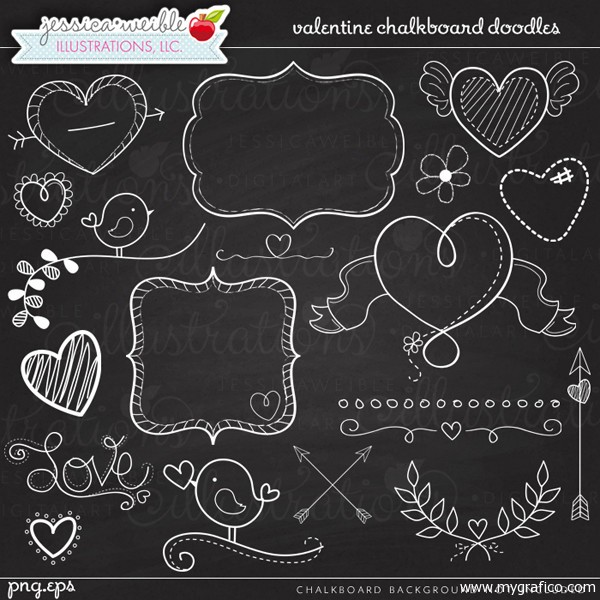Free chalkboard clipart birthday png black and white library Free chalkboard clipart images - ClipartFest png black and white library