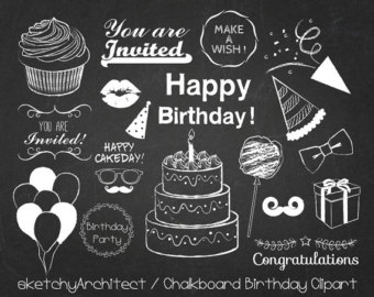 Free chalkboard clipart birthday banner free download Free chalkboard clipart birthday - ClipartFest banner free download