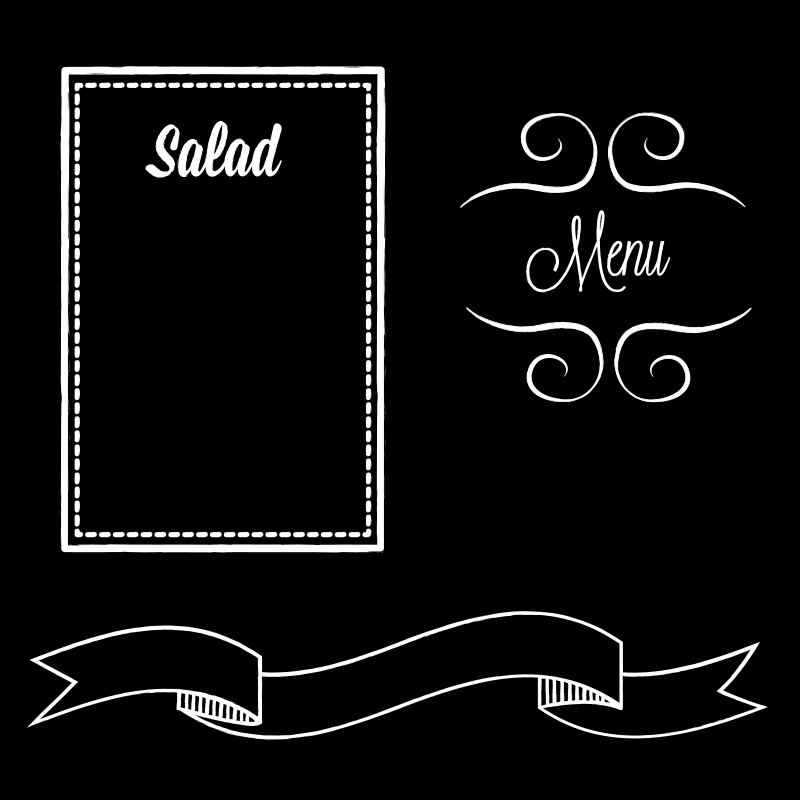 Free chalkboard frame clipart clip art black and white download Free Clipart: Chalk Board Frame | starsunflowerstudio clip art black and white download