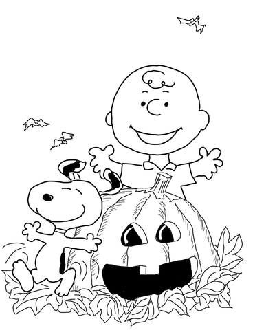 Free charlie brown valentine clipart coloring pages svg royalty free stock Charlie Brown Halloween coloring page | Free Printable Coloring Pages svg royalty free stock