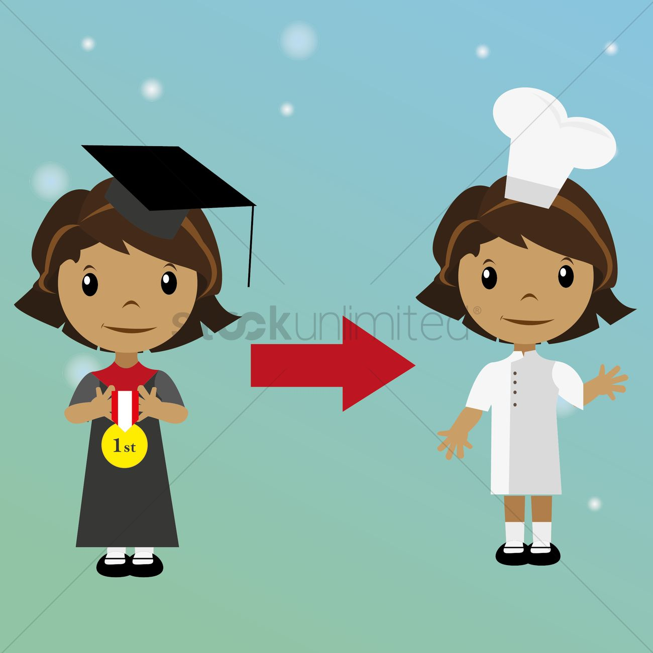 Free chef peru clipart images svg stock Free Graduate student choosing occupation as chef Vector Image ... svg stock