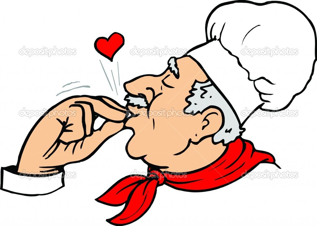 Free chef peru clipart images svg black and white library Finger Kiss: Chef\'s indication of perfection. | Kismet Kisses ... svg black and white library