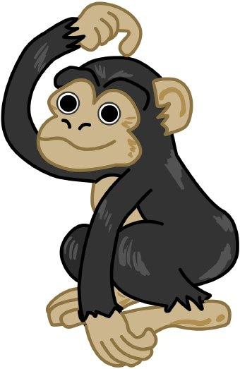 Free chimpanzee clipart picture stock Chimpanzee clip art | Clipart Panda - Free Clipart Images picture stock