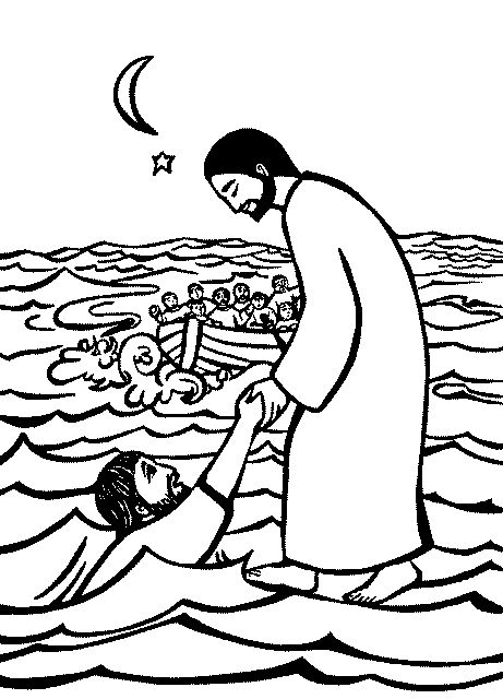 Free christian images and clipart of jesus on sea