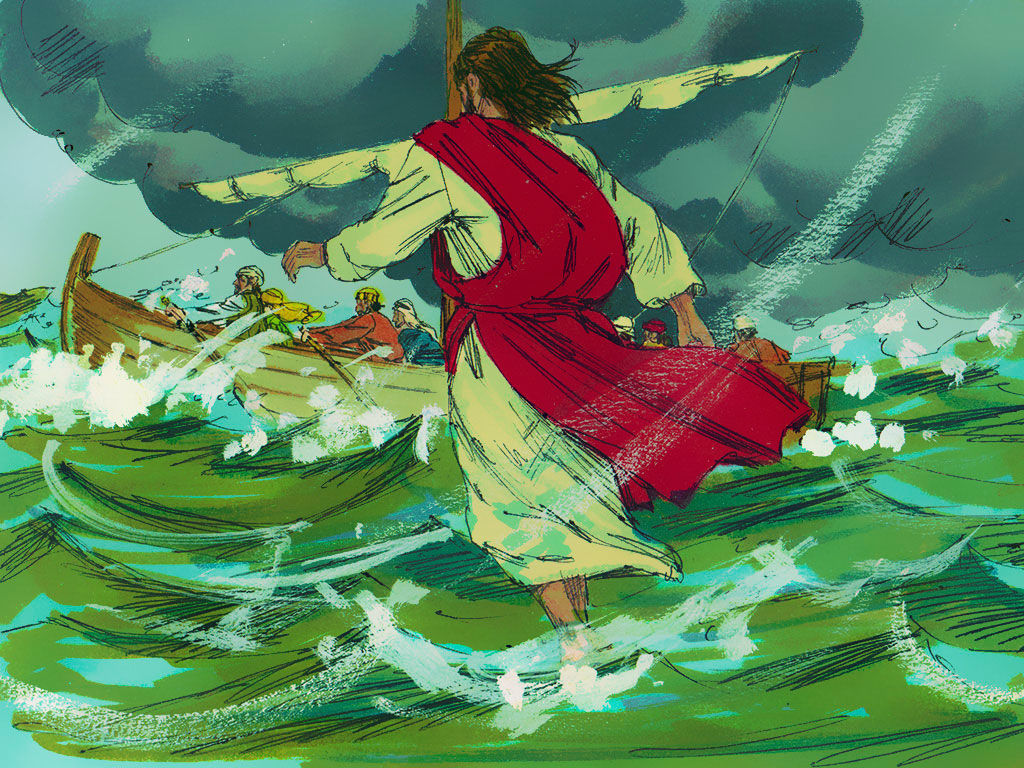 Free christian images and clipart of jesus on sea image transparent stock FreeBibleimages :: Jesus walks on water :: Jesus walks on water and ... image transparent stock