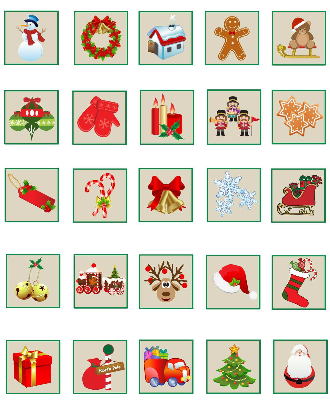 Free christmas advent calendar clipart image freeuse download Free Christmas Calendar Printable   2017 Calendar Printable image freeuse download