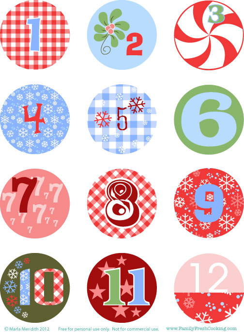 Free christmas advent calendar clipart jpg royalty free DIY: Freebie Christmas Advent Calendar on FamilyFreshCooking.com ... jpg royalty free