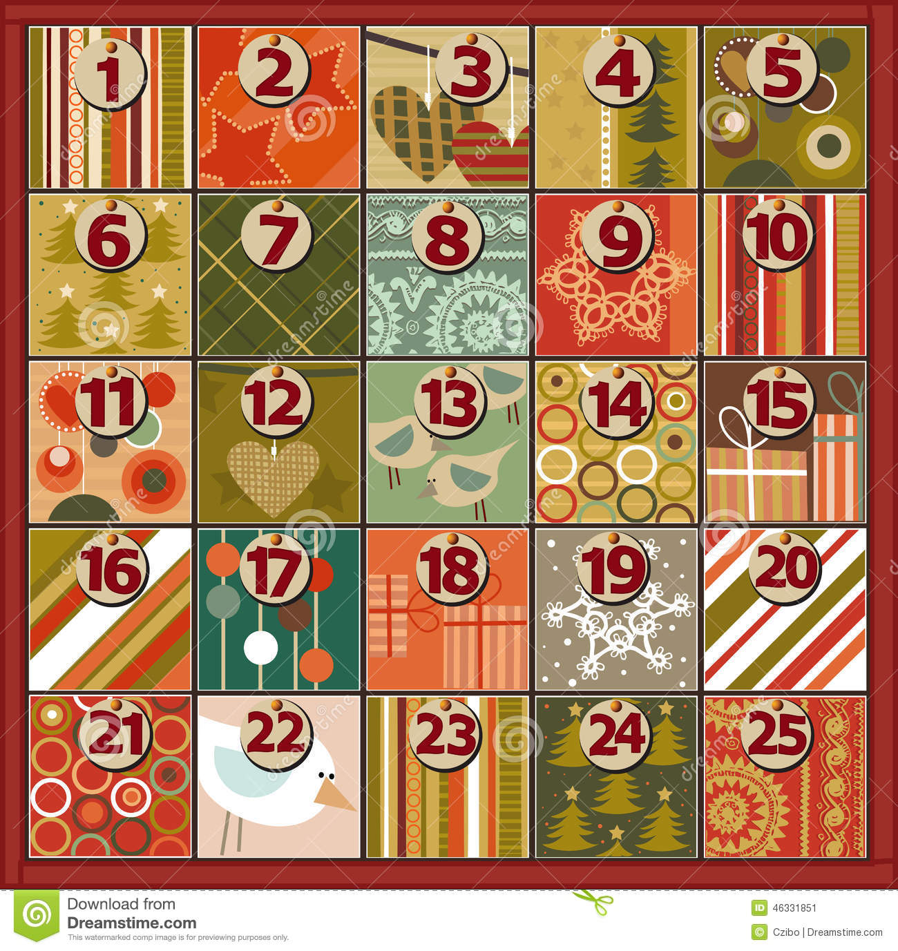 Free christmas advent calendar clipart clipart freeuse Advent Calendar Stock Vector - Image: 46331851 clipart freeuse