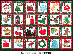 Free christmas advent calendar clipart clip library library Advent calendar Clip Art and Stock Illustrations. 438 Advent ... clip library library