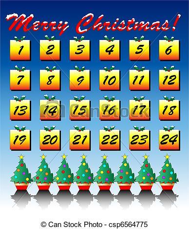 Free christmas advent calendar clipart clip black and white Advent calendar Clip Art and Stock Illustrations. 438 Advent ... clip black and white