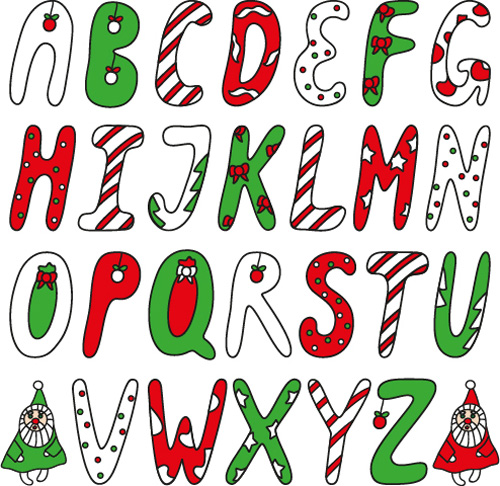 Free christmas alphabet clipart royalty free library Funny christmas alphabet font vector - Vector Christmas, Vector ... royalty free library
