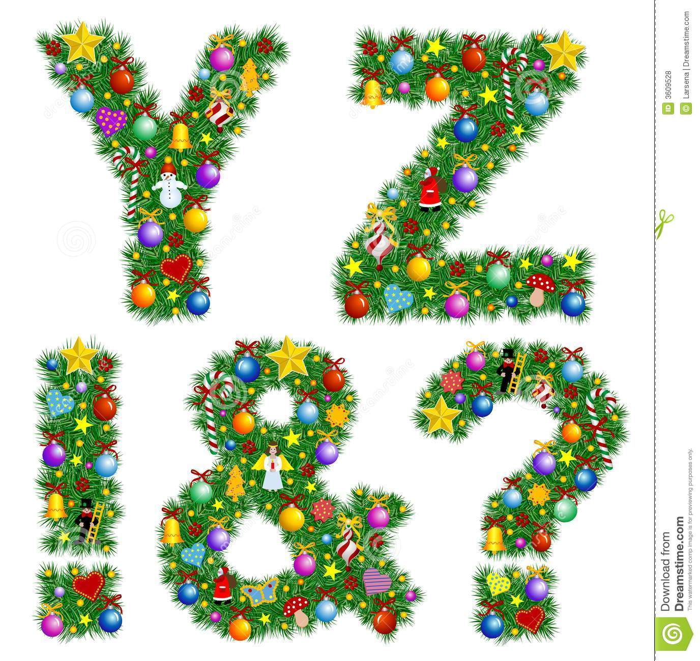 Free christmas alphabet clipart transparent library Alphabet On Christmas Ornaments Stock Photos - Image: 3766043 transparent library