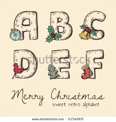 Free christmas alphabet clipart graphic freeuse stock Christmas Alphabet Stock Images, Royalty-Free Images & Vectors ... graphic freeuse stock