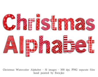 Free christmas alphabet clipart vector transparent stock View christmas by SwiejkoForPrint on Etsy vector transparent stock