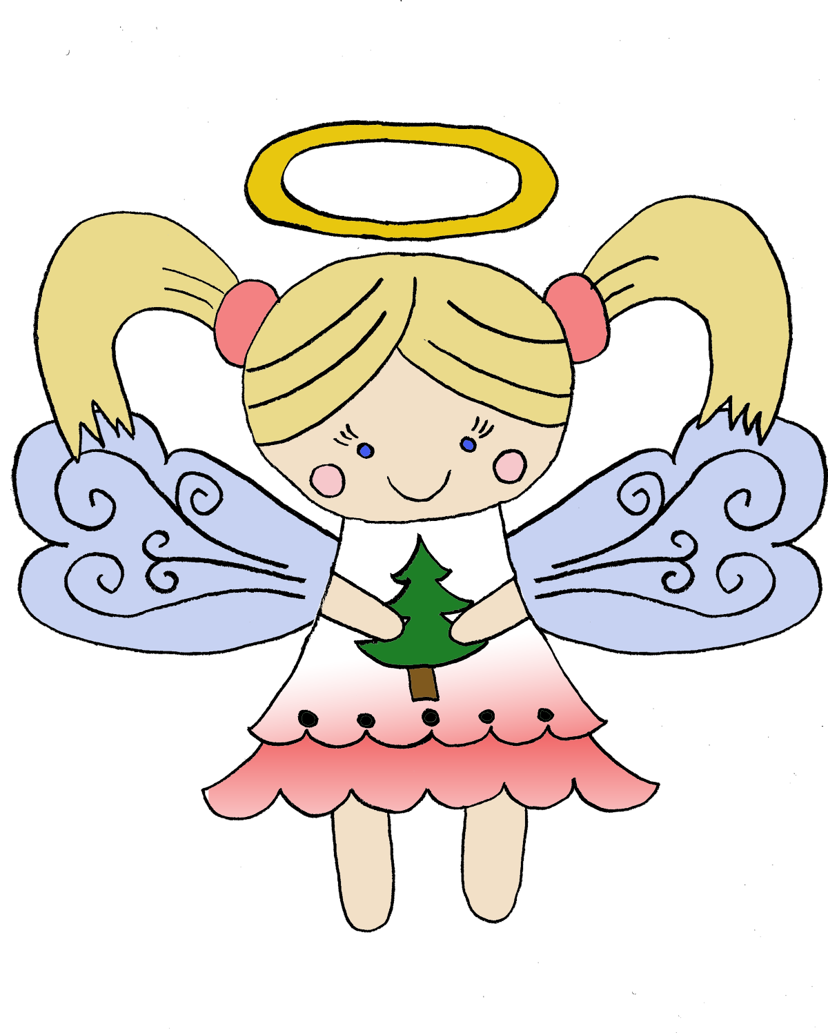 Free christmas angel clipart graphic library library Christmas Angel PNG HD | PNG Mart graphic library library