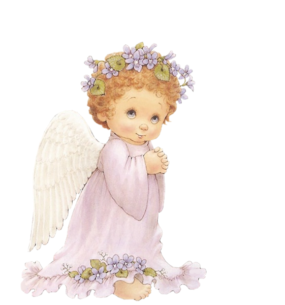 Free christmas angel clipart image freeuse stock Cute Angel with Purple Flowers Free Clipart | Frame & Heart & Cupids ... image freeuse stock