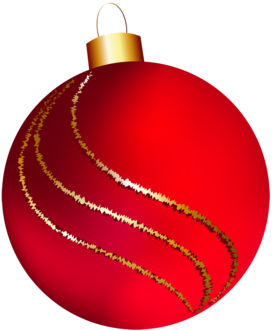 Red christmas ornaments clipart