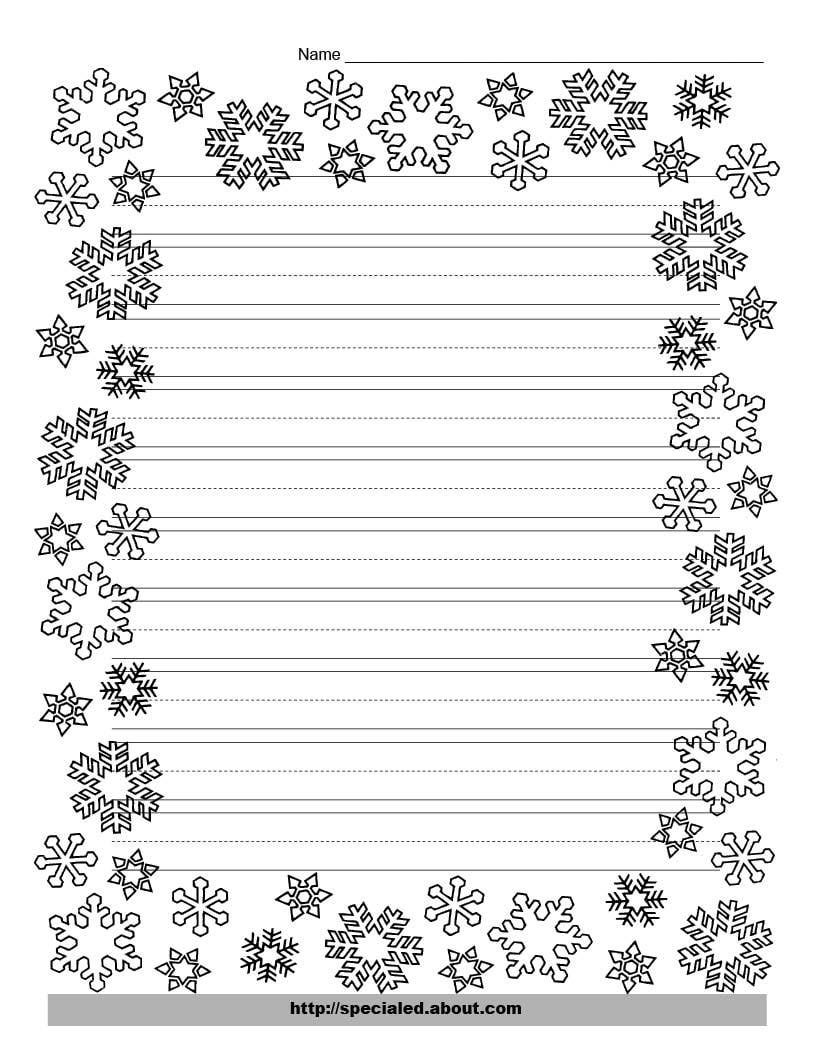 Free christmas borders clipart black and white kids image royalty free library These Free Christmas Printables Are Perfect For Kids\' Writing Tasks ... image royalty free library