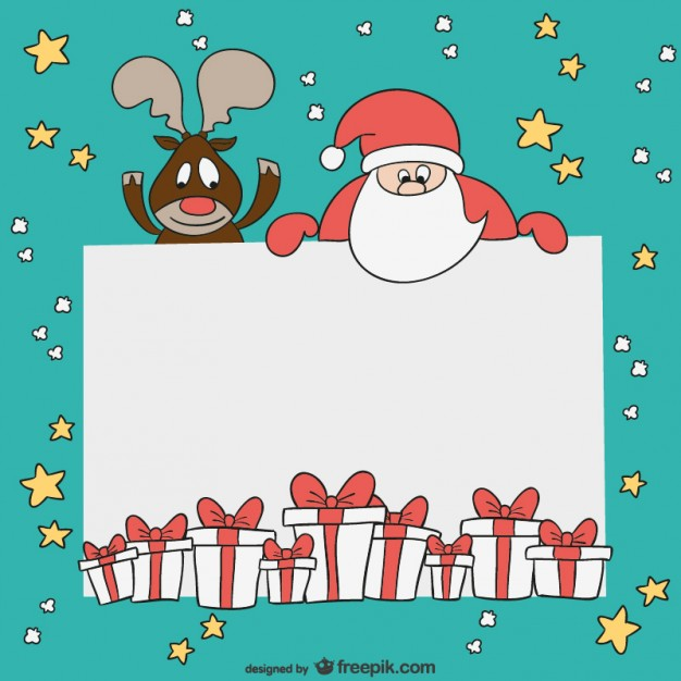 Free christmas card templates clipart. Template vector download