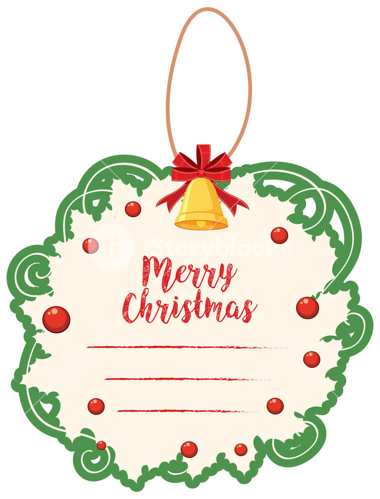 Template with green border. Free christmas card templates clipart
