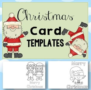 Free christmas card templates clipart. December template
