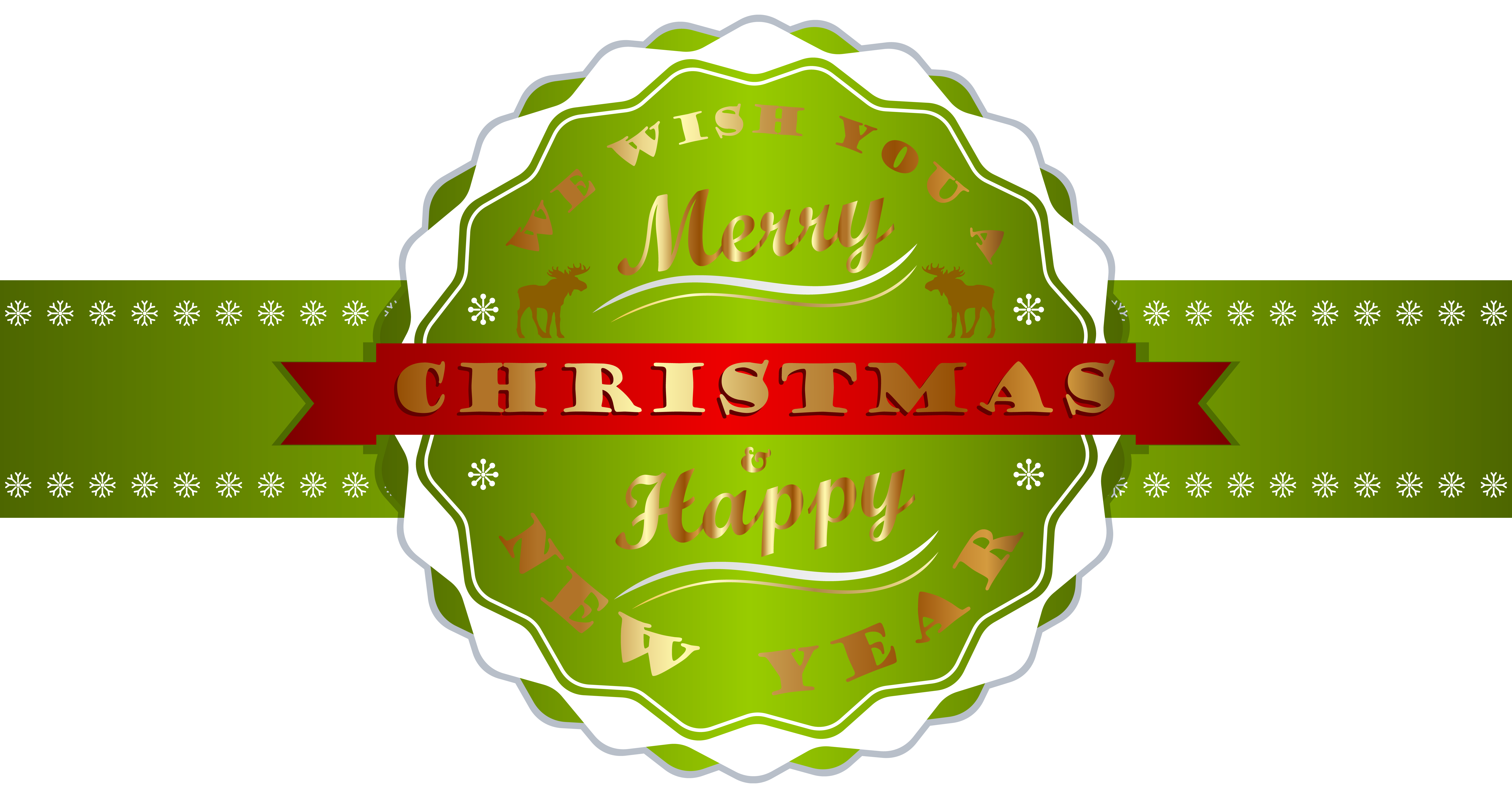 Free christmas clipart and new years image vector library library Merry Christmas and Happy New Year Label PNG Clipart Image ... vector library library