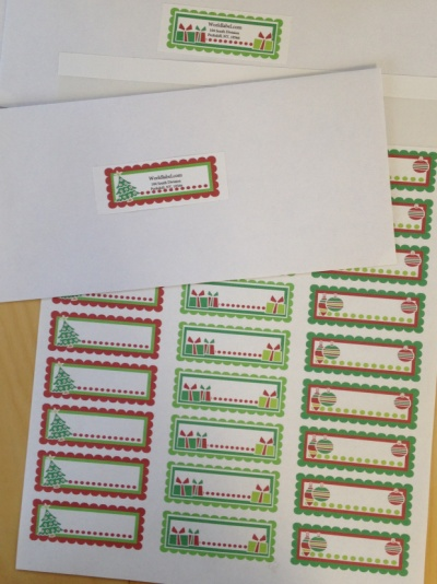 Free christmas clipart for address labels. Ready to print printable