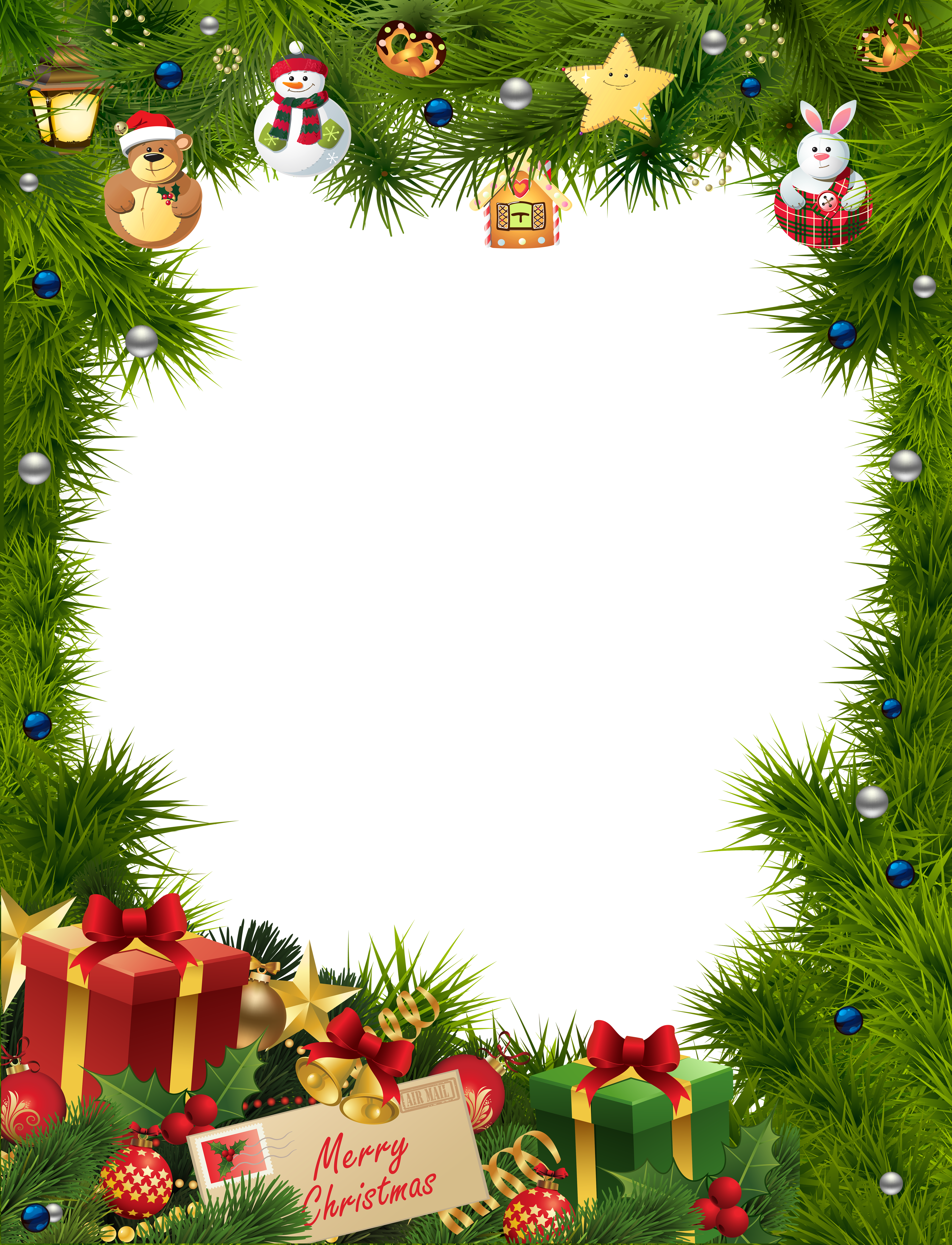 Free christmas clipart frames vector Christmas Frame Transparent PNG Image   Gallery Yopriceville - High ... vector