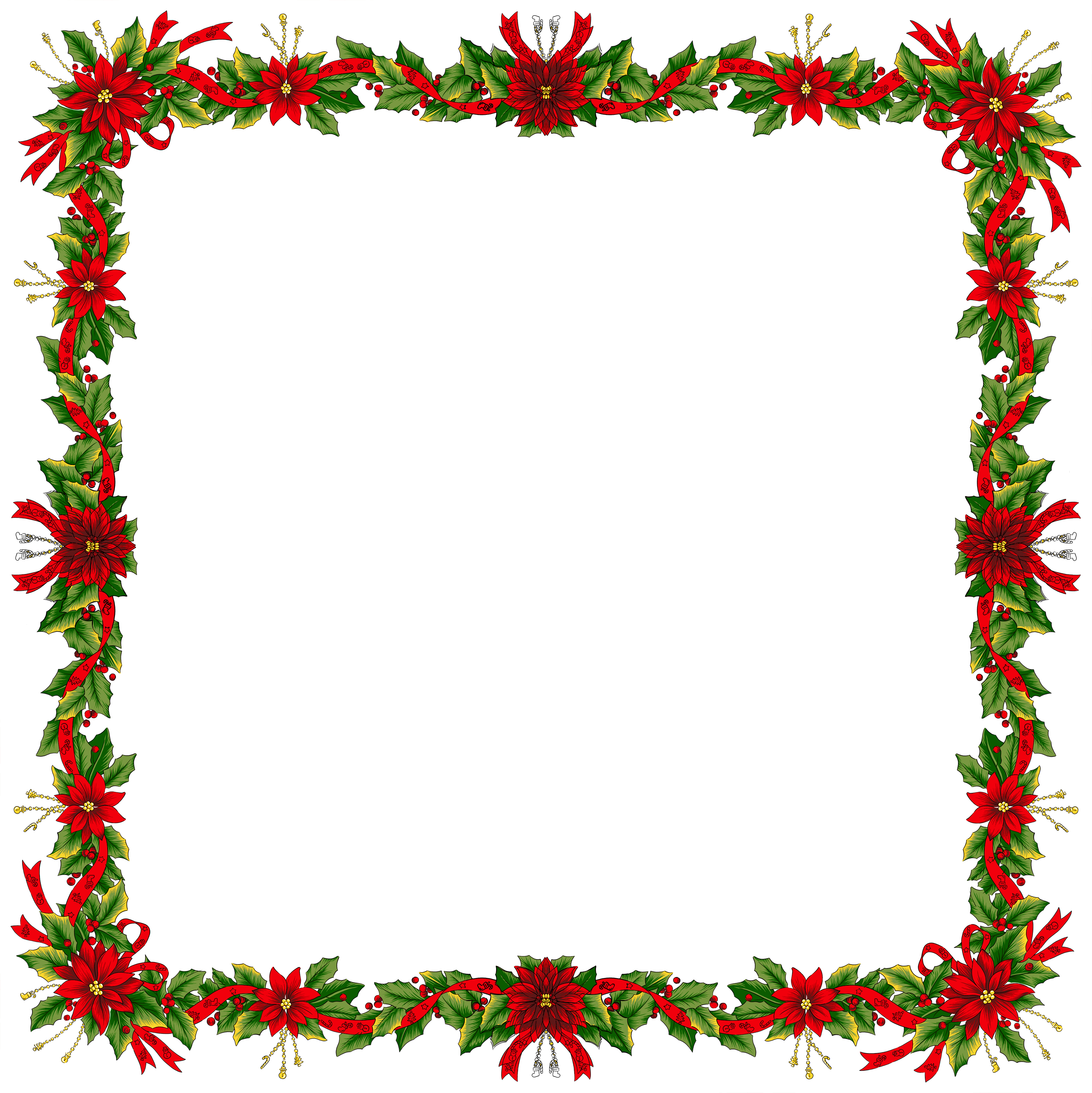 Free christmas clipart frames png royalty free download Large Christmas Transparent PNG Photo Frame   Gallery Yopriceville ... png royalty free download