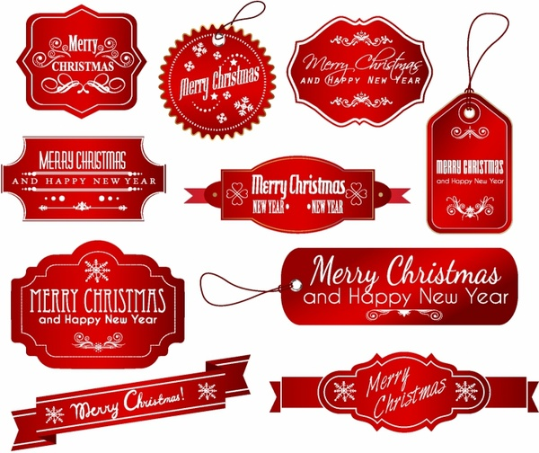 Free christmas clipart labels vector freeuse library Christmas Labels Free vector in Adobe Illustrator ai ( .AI ... vector freeuse library