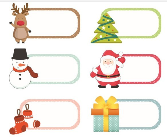 Free christmas clipart labels png download Free Christmas Printable Labels - Creative Cynchronicity png download