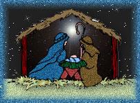 Nativity scenes gift giving. Free christmas clipart manger scene