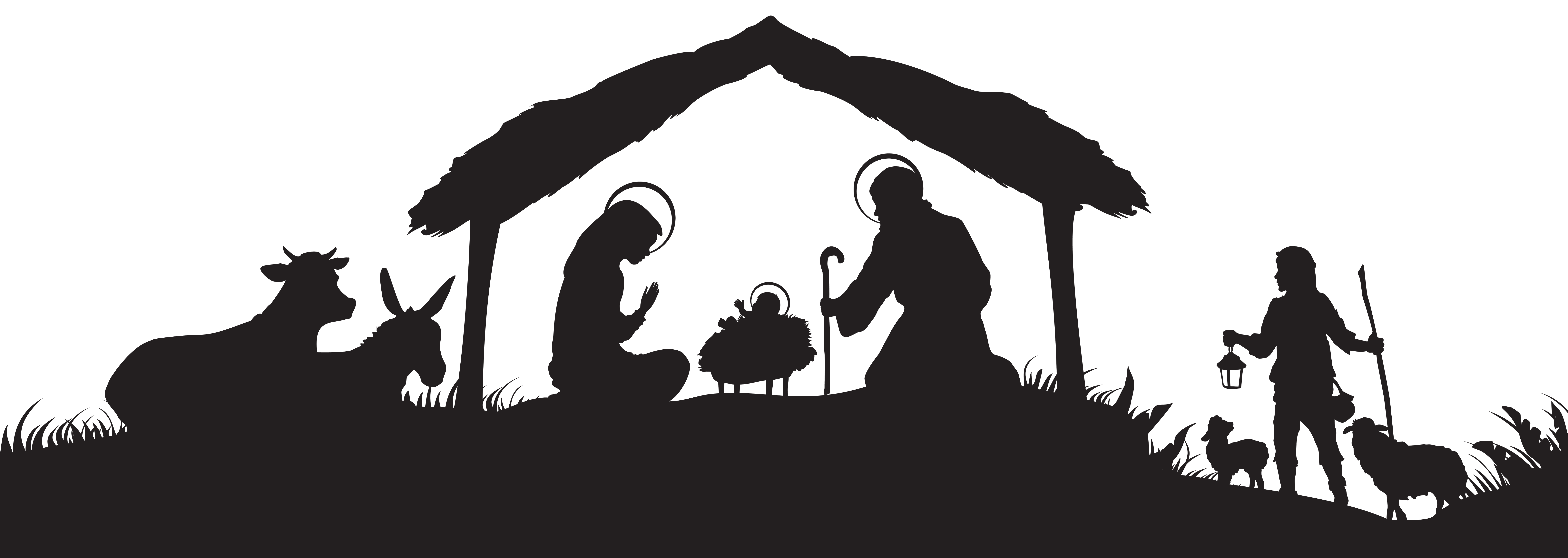 Nativity images free clipart svg download Christmas Nativity Scene Silhouette PNG Clip Art Image | Gallery ... svg download