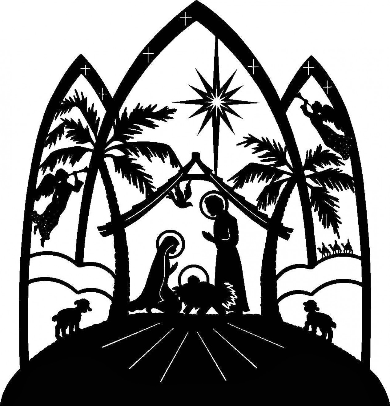 Free christmas clipart manger scene. Nativity collection cute clip