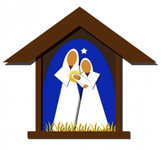 Clip art images nativity. Free christmas clipart manger scene