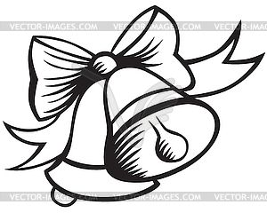 Clip art bells vector. Free christmas clipart pictures black and white