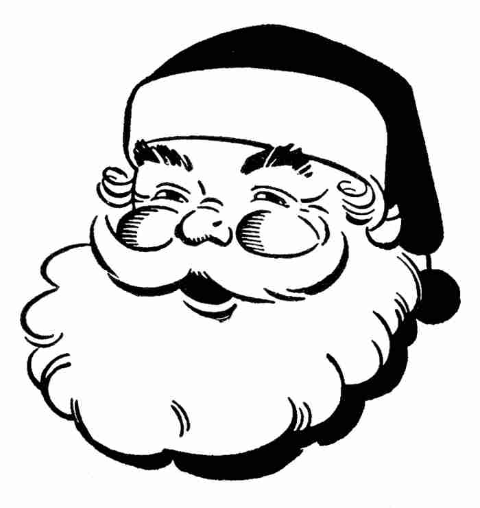 Free christmas clipart pictures black and white.