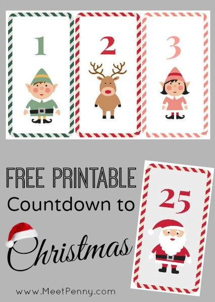 Free christmas countdown clipart svg free stock Free Printable Countdown to Christmas - Meet Penny svg free stock
