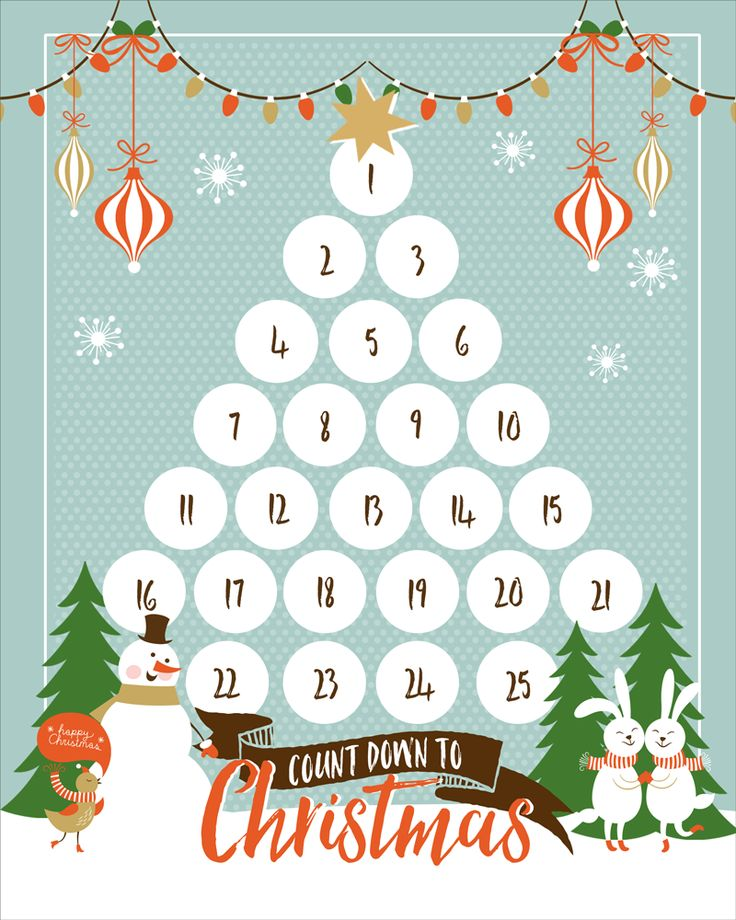 Free christmas countdown clipart banner transparent download FREE Christmas Countdown Printable - download and use this cute ... banner transparent download