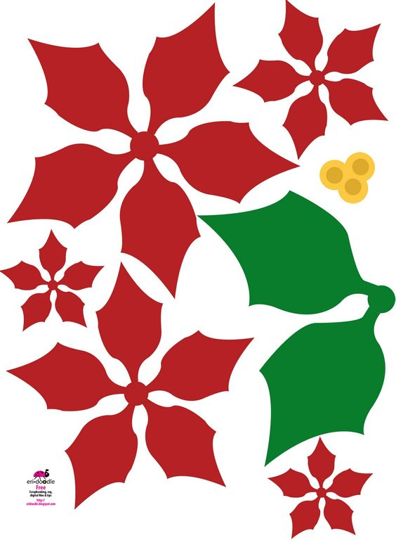 Free christmas flowers download vector transparent library paper poinsettia christmas flower free download template, for kids ... vector transparent library