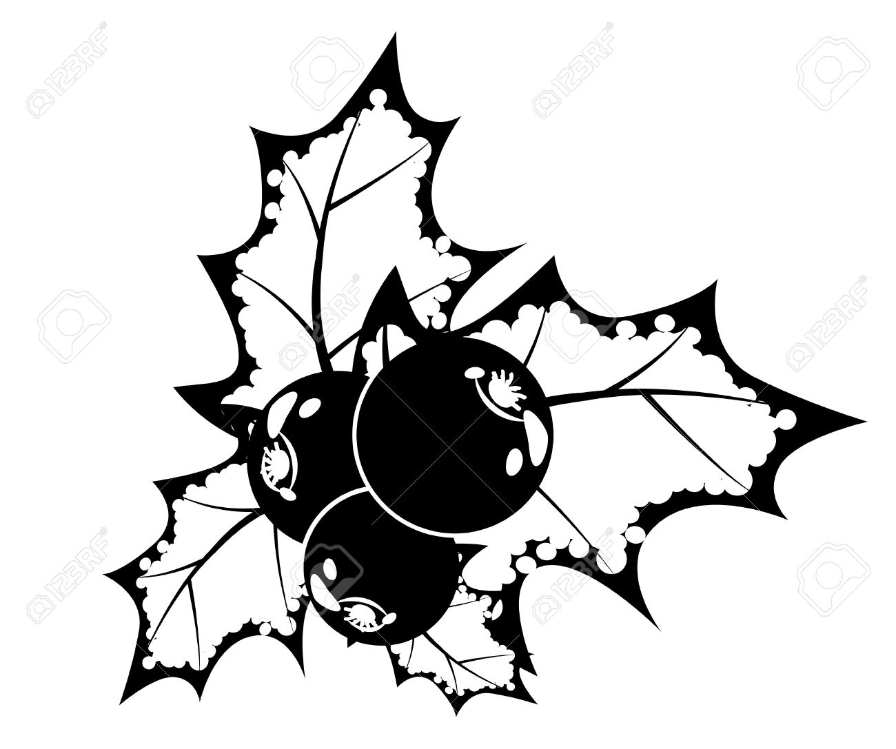 Free christmas holly clipart black and white picture royalty free download Holly Clipart Black And White   Free download best Holly Clipart ... picture royalty free download