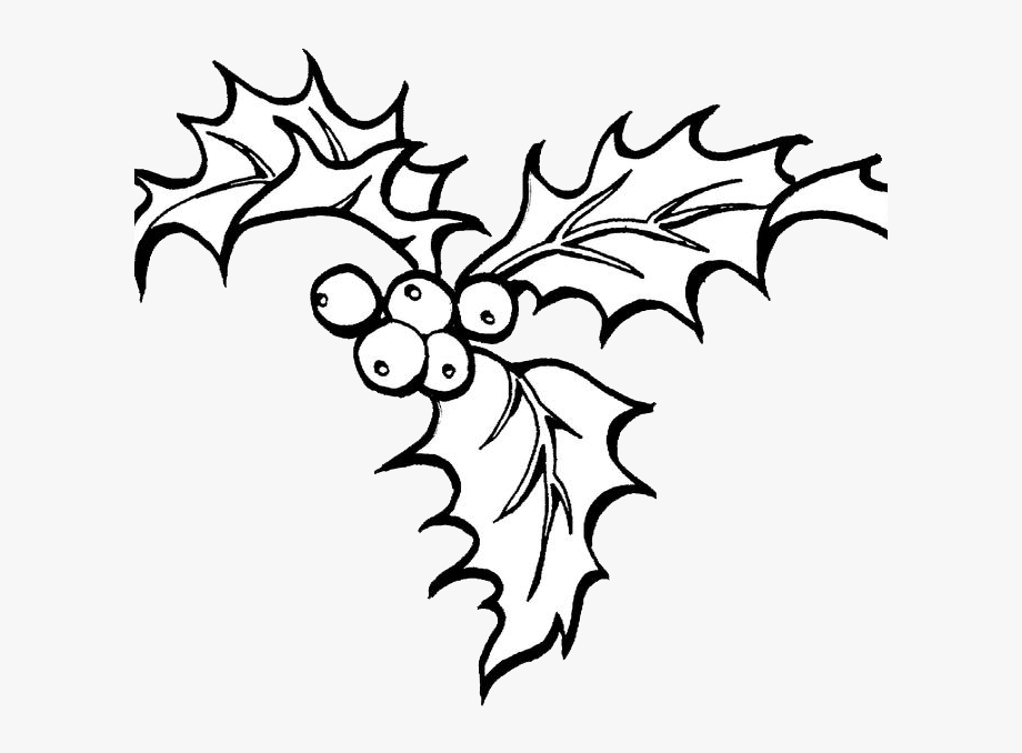 Free christmas holly clipart black and white vector library stock Gallery Christmas Colouring Pages Holly - Christmas Coloring Pages ... vector library stock