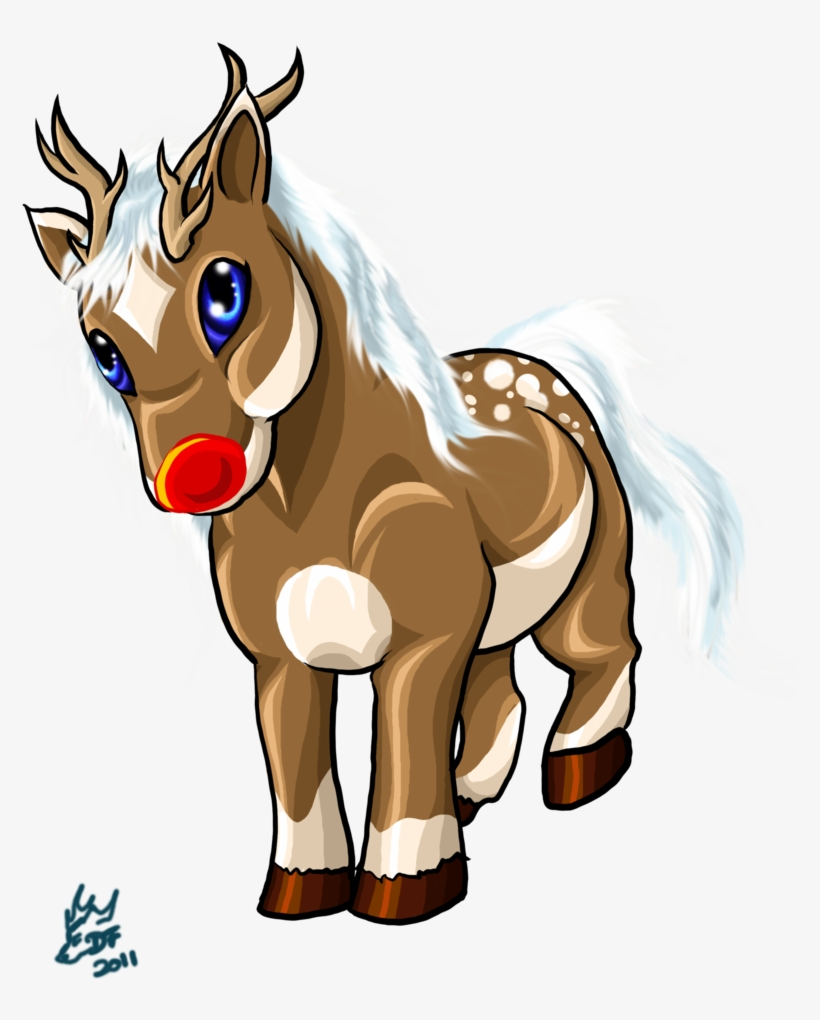 Free christmas horse clipart