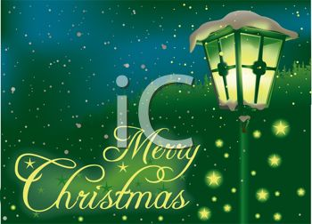 Free christmas message clipart png free library Royalty Free Clipart Image: Illuminated Streetlight with Merry ... png free library